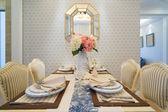 Luxury dining room — Stock Photo