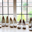 Bride and bridesmaids shoes — Stock Photo #11809027
