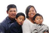Filipino family — Stock Photo