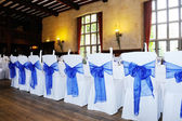 Blue chair cover — Stock Photo