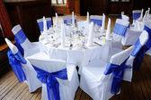 Table at wedding reception — Stock Photo