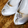 Bride shoes — Stock Photo