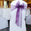 Purple chair cover — Stock Photo