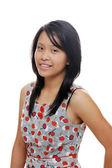 Dívka, která nosí roztomilé šaty — Stock fotografie