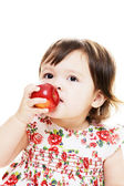 Tasting an apple — Stock Photo