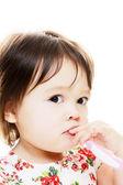 Para niños pequeños cepillos de dientes — Foto de Stock