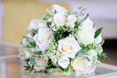 Brides white roses — Stock Photo
