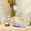Candy table at wedding — Stock Photo