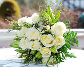 Brides bouquet closeup — Stock Photo
