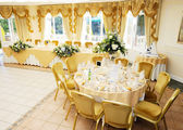 Wedding reception setting — Stock Photo
