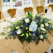 Wedding reception flowers - Stock Photo