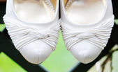 Brides shoes closeup — Stock Photo