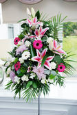 Wedding flowers at ceremony — Stock Photo