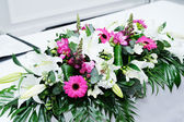 Wedding flower arrangement — Stock Photo