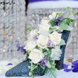 Wedding reception Flower Arrangement — Stock Photo