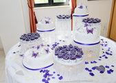 Énorme gâteau de mariage — Photo