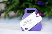 Wedding favours purple — Stock Photo