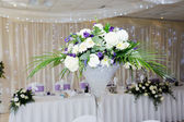 Wedding reception centrepiece — Stock Photo