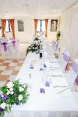 Wedding reception table — Stock Photo