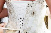 Brides dress back — Stock Photo