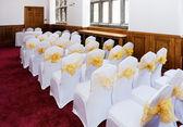 Wedding ceremony chairs — Stock Photo