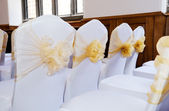 Wedding chair covers — Stock Photo