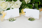 Wedding reception place cards — Stock Photo