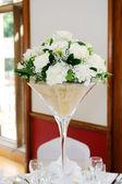 Wedding reception floral arrangment — Stock Photo
