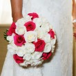 Brides rose bouquet — Stock Photo