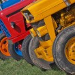 Vintage Tractor Line Up — Stock Photo