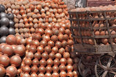 Pots stock piled in Jaipur, India — Stock Photo