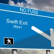 Swift Exit — Stock Photo #18909073