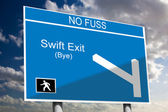 Swift Exit — Stock Photo