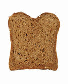 Slice of fresh wholemeal bread — Stock Photo