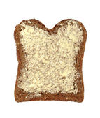 Buttered wholemeal bread — Stock Photo