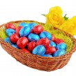 Stockfoto: Easter eggs in basket