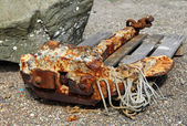 Rusty anchor — Stock Photo
