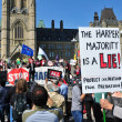 Stock Photo: Occupy protest anniversary in Ottawa