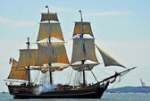 HMS Bounty Tall Ship that sank in Hurricane Sandy — Stock Photo