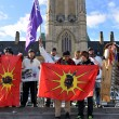 Stock Photo: Cree youth walkers arrive in Ottawa