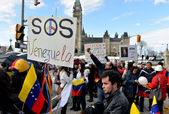 SOS Venezuela rally in Ottawa — Stock Photo
