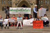 Bring back our girls rally in Ottawa — Stock Photo