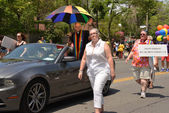 Grand Marshall Brent Hawkes in Toronto WorldPride Parade — Stock Photo