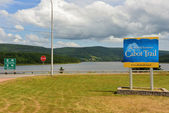 The world famous Cabot Trail in Cape Breton — Stock Photo