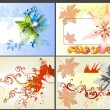 Flower vector design elements — Image vectorielle