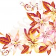 Pretty soft card with vector lily — Stock Vector