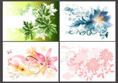 éléments de design floral — Vecteur