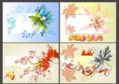 çiçek vektör tasarım öğeleri — Stok Vektör