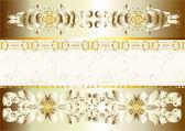 De fundo vector de ouro e prata ou papel de parede — Vetorial Stock