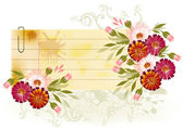 Banner with floral decor and place for your text — Stock Vector
